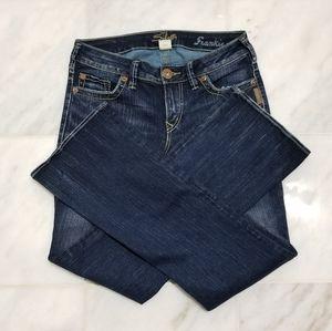 Silver Frankie Bootcut Jeans 28W 31L Dark Washed